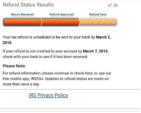 what is the status of my state refund