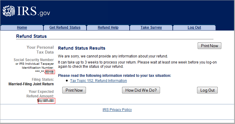check irs refund status 2020