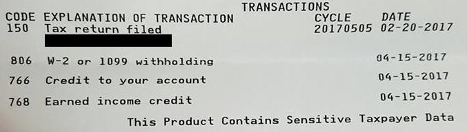 2017 Tax Transcript Cycle Code Chart ⋆ RefundTalk com