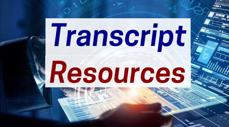 Transcript Resources ⋆ RefundTalk com