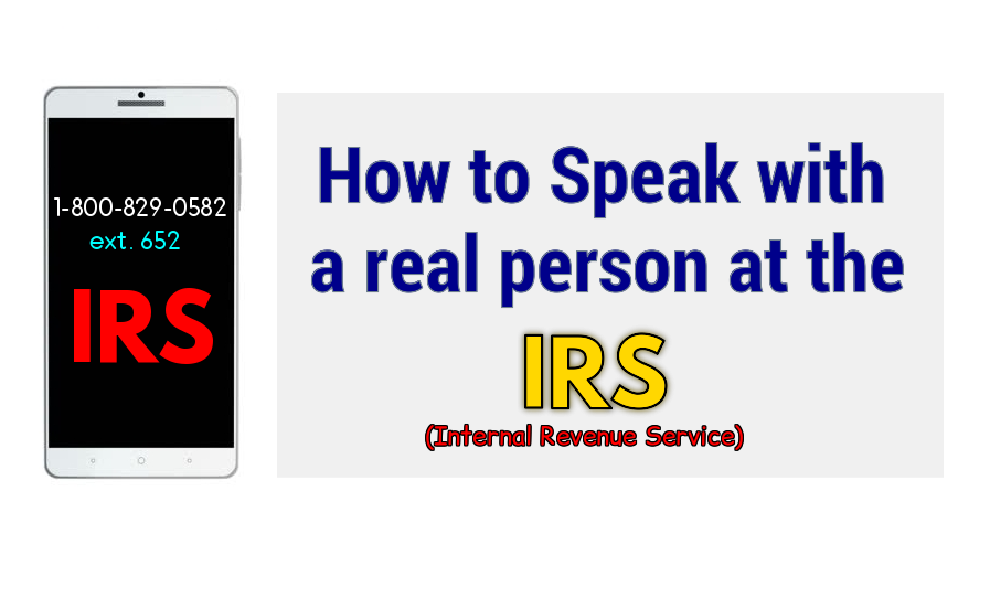 How to speak with a real person at the IRS.