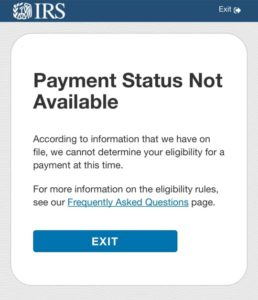 Get My Payment - Payment Status Not Available