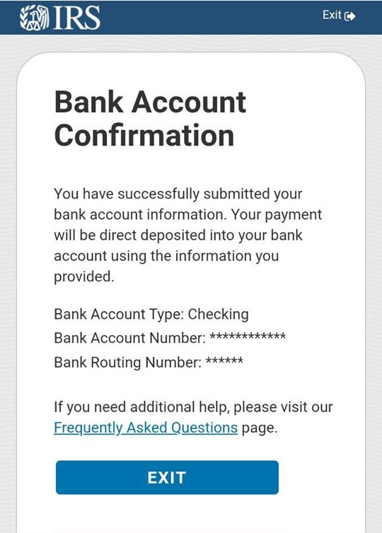 Get My Payment - Bank Account Confirmation