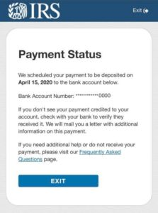 Get My Payment - Payment Status - Payment is Scheduled
