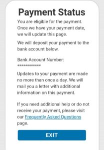 Get My Payment - Payment Status - You are eligible for a payment